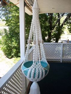 Macrame plant hanger white Whispering di NotLimited su Etsy