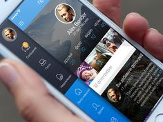 Social app sidebar by ALEX BENDER