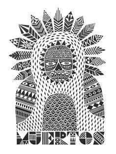 Hopi Kachina Doll Coloring Page | School | Pinterest ...