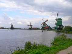 windmills in Zaanse Schans, Netherlands. Photo by Lynn Wise.