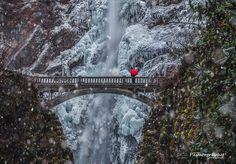 Ice Snow & Red Umbrella by Mitch Schreiber on 500px