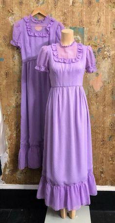 1970's Mauve Maxi Bridesmaid Dress Size 10  | eBay Vintage Clothing, Vintage Outfits, Maxi Bridesmaid Dresses, Color Show, Mauve, Corset, Scoop Neck, Cold Shoulder Dress, Size 10