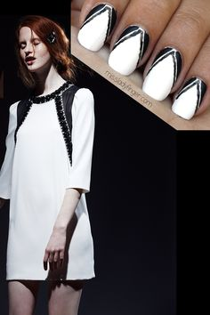 Marc by Marc Jacobs RE13 inspired nail art via Miss Ladyfinger