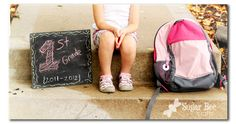 First Day of School Pics - chalkboard sign tutorial - Sugar Bee Crafts 1st Day Of School Pictures, School Photos, First Day Of School, School Portraits, School Photography, Children Photography, Photography Ideas, Photo Souvenir, Kindergarten First Day