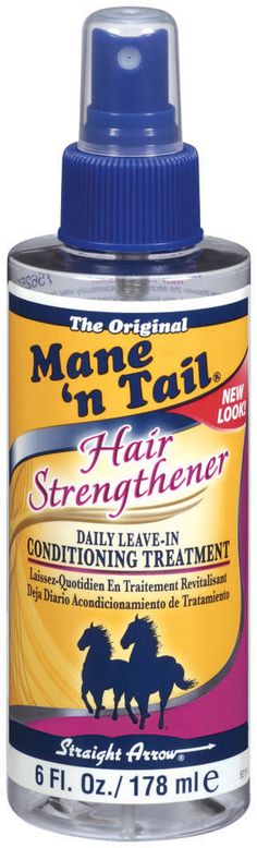 Mane 'n Tail Hair Strengthener- seriously a miracle product-perfect as a leave-in conditioner or for a spa day at home--leave it in all day -wash and condition--amazing!  Find it at your local Sally Beauty for ONLY $6.99