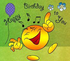 Happy Birthday to you (dansende smiley) Birthday Emoticons, Happy Birthday Emoji, Happy Birthday Greetings Friends, Happy Birthday Celebration, Happy Birthday Video, Happy Birthday Pictures, Birthday Wishes Quotes, Happy Birthday Messages, Birthday Stuff