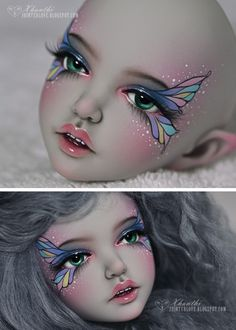 You can watch the timelapse video of this faceup {HERE}