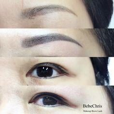 Eyeliner Embroidery, Semi Permanent Eyeliner, Eyebrows, Makeup, Make Up, Eye Brows, Beauty Makeup, Brows, Brow
