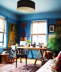 John Robshaws Office via Elle Decor