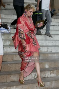 Catherine Baba attends the Versace show as part of Paris Fashion Week Haute Couture Fall/Winter 2015/2016 on July 5, 2015 in Paris, France.