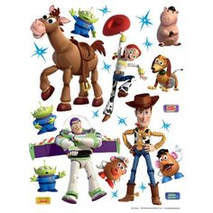 [ Disney Toy Story Giant Stickers Great Kidsbedrooms The ] - Best Free Home Design Idea & Inspiration Bbg, Toy Story, Stickers Pirate, Pig Family, Home Design 2017, Deer Ornament, Desktop Decor, Girl Couple, Miniature Figurines