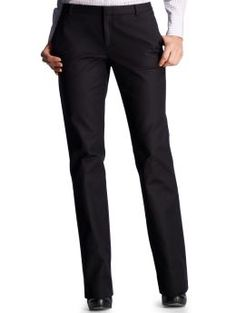 Women: Straight leg pants - black