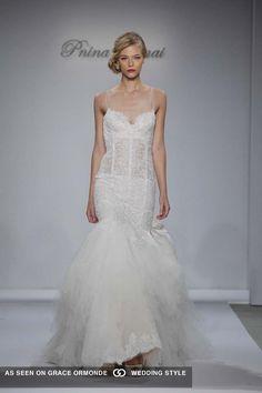 pnina tornai for kleinfeld sexy wedding dress #GOWSRedesign