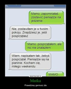 Funny Sms, Funny Text Messages, Wtf Funny, Funny Texts, Hilarious, Polish Memes, Great Jokes, Happy Photos, More Than Words