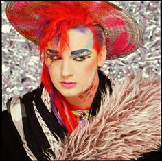He's the music icon famous for his flamboyant makeup and avant-garde style. But Boy George sported a far less dramatic look as he touched down at Sydney airport on Monday. Boy George, Culture Club, Pop Culture, 80s Party Decorations, Wall Decorations, Blitz Kids, 80s Pop, Retro Pop, New Romantics