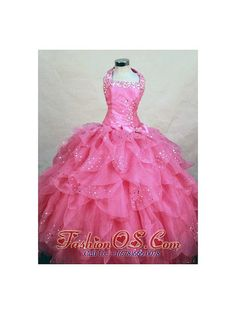 Wonderful Halter Top Hot Pink Organza Beading Little Girl Pageant Dresses fashionos.com  discount pageant dresses for little girls | cheap child pageant dresses | glitz flower girl pageant dress | glitz little girls pageant dresses | discount girl pageant dresses | discount little girls pageant dresses | sleeveless pageant dress | floor length pageant dress | floor length ball gown | sleeveless little girl dress with straps