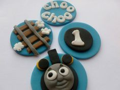 Fondant Thomas The Tank Engine Cupcake by TheCakeTopCompany, £7.95