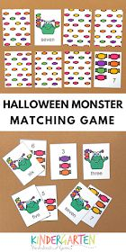 FREE Halloween Monster Memory Game - Counting to This fun, free printable math game is a fun way for preschool and kindergarten age kids to practice counting and number words Printable Math Games, Free Math Games, Free Printable, Halloween Math, Halloween Activities, Kindergarten Age, Kindergarten Activities, Monster Activities, Free Worksheets For Kids