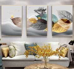 Flower Painting Canvas, Abstract Canvas Art, Canvas Art Prints, Canvas Wall Decor, Home Decor Wall Art, Modern Minimalist Living Room, Modern Wall, White Plants, Leaf Wall Art