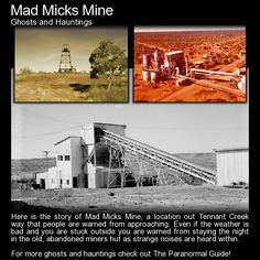 Here is the story of Mad Micks Mine, a location out Tennant Creek way that people are warned from approaching. Even if the weather is bad and you are stuck outside you are warned from staying the. Weather Memes, Funny Weather, Scary Places, Haunted Places, Creepy Things, Creepy Stuff, Creepy Stories, Ghost Stories, True Stories