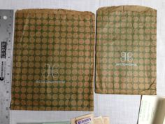 VINTAGE 1960'S JL HUDSON'S DEPARTMENT STORE SHOPPING BAGS (2) WITH RECEIPTS