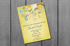Vintage Baby Shower Card Printable Blue by NorthernDesigns on Etsy, $9.00