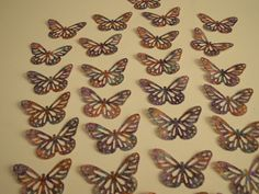 25 Monarch Butterfly Punch Die Cuts,Vellum Paper,SCRAPBOOKING,ALTERED ART,FAVORS