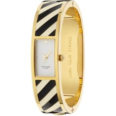 Earn Your Stripes Carousel Bangle ($250) ❤ liked on Polyvore