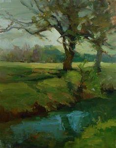 "Daily Paintworks - ""Creek Tree"" by Kelli Folsom"