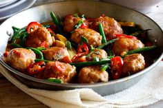 Thai Chicken Meatball Curry with Jasmine Rice | Simply Delicious