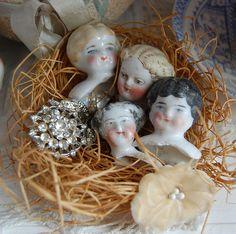 Porcelain doll heads