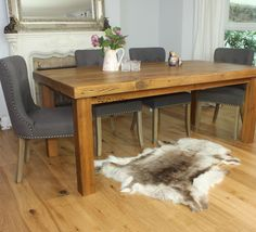 Moss Rustic Reclaimed Wood Dining Table (image 2)