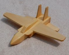 Wooden Jet Airplane Toy - pine