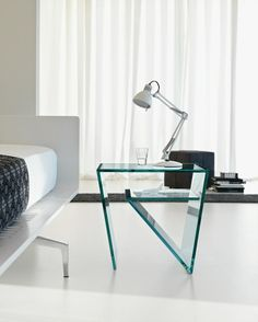 #Glass side #table ZEN by T.D. Tonelli Design | #design EG+AV @Shalome Tonelli Design