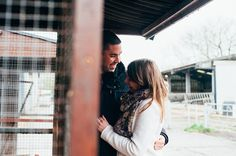 David & Kate's Engagement photos with farm animals | Mustard Yellow Photography #farmengagement