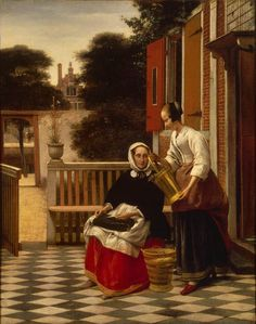 The Athenaeum - Woman and Maid (Pieter de Hooch - )