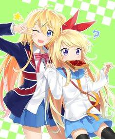 Chitoge and Karen cute switch!