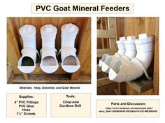 No-Waste PVC Goat Mineral Feeders
