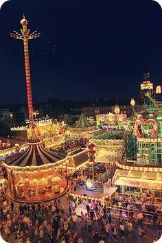 European Carnival With Circus Tent Carousel