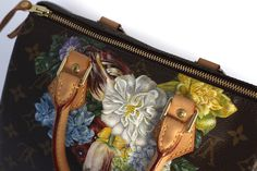 Hand Painted Louis Vuitton Speedy 25 Baroque Flowers (Fleur de Baroque)