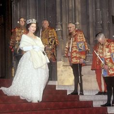 Queen Elizabeth II leaving after the State Opening of Parliament (1964)
