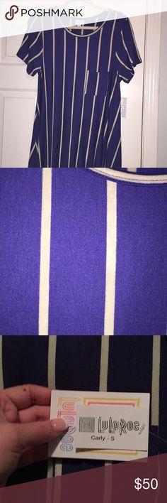 BNWT blue and white striped small LuLaRoe Carly BNWT blue and white striped small LuLaRoe Carly LuLaRoe Dresses