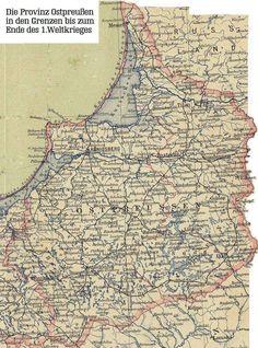 Karte von Ostpreussen