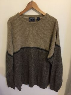 Peconic Bay Traders Beige Cotton/acrylic Large Sweater Made in USA RN # 32958 #PeconicBayTraders #Crewneck