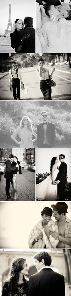 22 High Fashion Engagement Photos - Timeless black and white