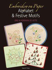 Embroidery on Paper: Alphabet & Festive Motifs