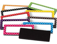 Teacher Created Resources Polka Dots Magnetic Labels Use on dry erase boards and cabinets 30 labels: 3 each of 10 colors Each is 2 x Polka Dot Classroom, Classroom Themes, Classroom Organization, Classroom Management, Organisation Ideas, Music Classroom, School Classroom, Organizing, Label Image