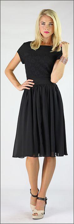 Isabel Dress - Black Dress, Modest Bridesmaid Dresses