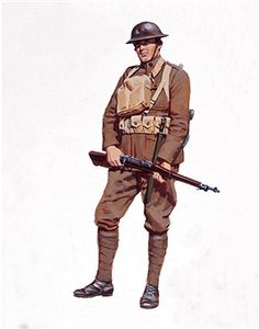 U.S. Army soldier during WW1 circa 1918. Pin by Paolo Marzioli