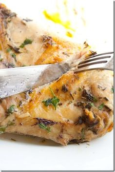 Butter Roasted Chicken with Rosemary and Sage